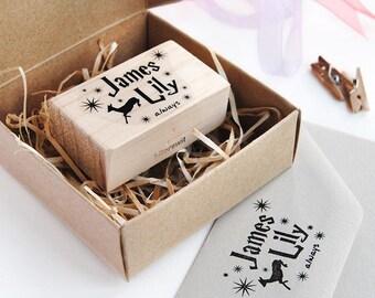 CUSTOM STAMP ALWAYS Harry Potter, custom stamp wedding, Harry Potter stamp, always Harry Potter, Harry Potter Wedding, gifts for newlyweds