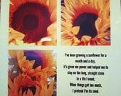 Sunflower Poem Coaster He...