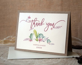 Unique Thank You Cards succulent thank you | etsy