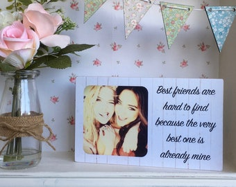 Handmade Personalised Wooden Plaque Best Friends Gift Unique Great Gift Present Any text