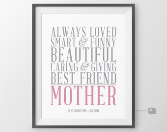 Mothers day Gift for Mom Gift for Mother of the Bride for Mom Birthday Gift for Mothers Day Valentines Gift Personalized Gift Mom Gift