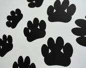 "TEN 5"" Cardstock Paw Print Die Cuts- ANY COLOR: Teacher, Wedding, Shower, School, Scrapbook, Gift Tag, Spring, Summer, Prom, Grad, Dog, Cat"