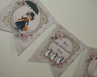 Mary Poppins Bunting Banner Garland Party,Wedding,Decoration Birthday,Kids,Tea Party