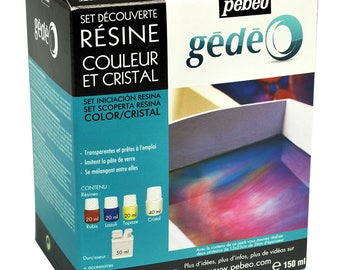 Pebeo Gedeo Discovery Set of Colour & Crystal Pouring Resin 150ML