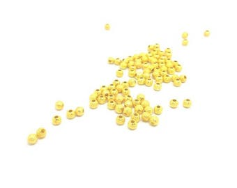 100 Stardust 4 mm gold beads