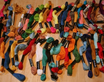 Many Colors--54 Skeins Of Embroidery Floss--Free Shipping