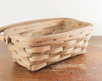Collectible Longaberger 1983 Berry Picking Basket Easter Egg Basket Handwoven, Made in Dresden, Ohio Pre 1990s 1980s Small, 1982