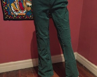 Forest Green Mild Flare Jeans