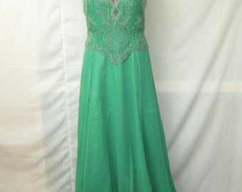Seagreen Long gown#8075