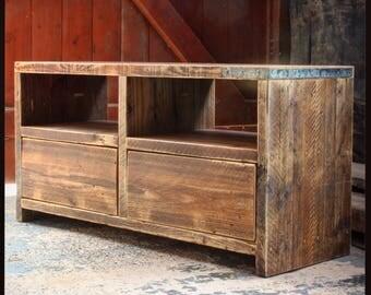 LUNA | Reclaimed Wood Media Unit - Handmade & Bespoke