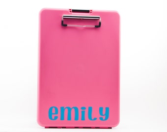 Pink or Blue Storage Clipboards