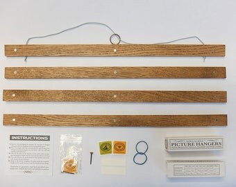 24x wooden poster hangers picture frames trade prices a4 a0 bulk order fine quality brass fittings no tools required ships worldwide