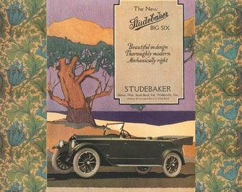 Studebaker Poster -- Vintage Automobile Poster -- Office Wall Decor
