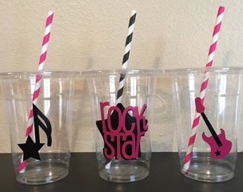 Rock Star Party Cups, Rockstar party cups