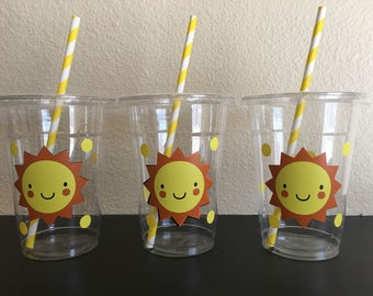You are my sunshine party cups, Summer Party Cups, Sun party Cups