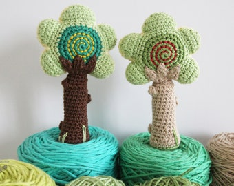 Tree Baby Rattle Amigurumi Pattern, Tree Amigurumi, Tree Baby Rattle, Baby Rattle Pattern, Baby Rattle Pattern Instant Download, PDF, DIY