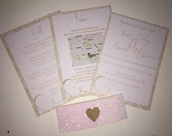 Personalised Wedding Invitations (x50)