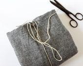 Hemp & Organic Cotton Denim Black Fabric - Prewashed