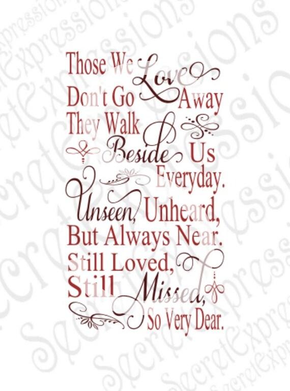Download Those We Love Don't Go Away Svg Sympathy Sign Svg