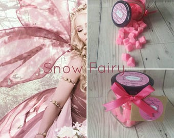 SNOW FAIRY WAX Melts, Pink Melts, Fairy Melts, Fruity, Soy Wax, Wax Melts, Candle Melts, Vegan, Home Fragrance, Mini Melts, Handmade in U.K