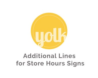 Line Add On for Store Sign