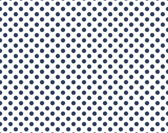 1 Yard Small Dot by Riley Blake Designs -C480-21 Navy Dot