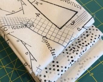 Fat quarter bundle modern background paper by Zen chic for Moda Cream