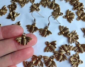 Bee Earrings Buzzy Bee Pollen Hunter Busy Bee Flower Friend Bug Earrings Gods Creator Bee Jewellery Buzzy Earrings Honey Bee