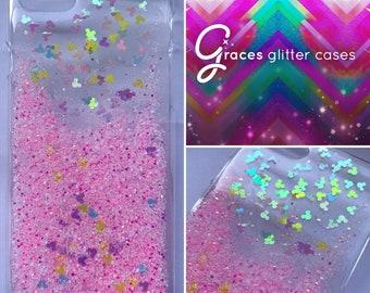 Ariel La Petite Sirène Glitter Iphone 5 5s 4 4s 5c 6 6plus couvercle téléphone cas , pailleté scintillant bling Disney réel paillettes.