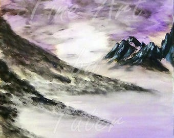 Digital download print Barren landscape