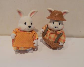 Woodzeez Hoppinggood Rabbit Family Lot of 2