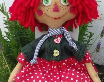 Primitive old Folk Art Raggety Ann Doll