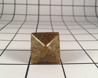 Small Resin Pyramid Ring