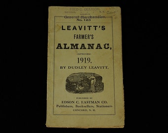 Leavitt's Farmers Almanac - 1919