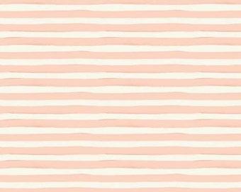 Crib Sheet Changing Pad | Girl Baby Bedding | Thick Peach Coral Stripe Crib Sheet | Brush Stripe | Modern Nursery | Standard or Mini Crib