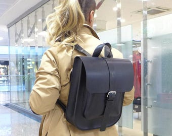 Leather Backpack, Rucksack,
