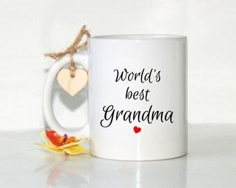 World's best Grandma, Gift for grandma, Gift for grandmother, Grandma mug, Grandmother gift, Grandma Mother's Day, Grandma gift, Grandchild