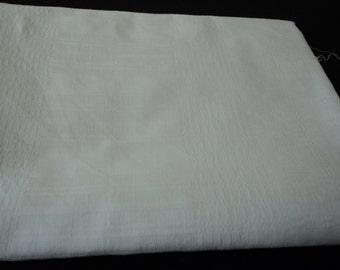 REDUCED - French vintage damask linen long table runner (03753)