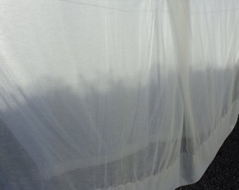 French vintage very large net window curtain (03873)