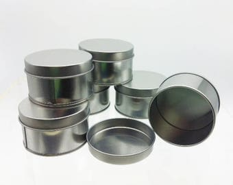 Round Tin with Lid for Crafts, Storage