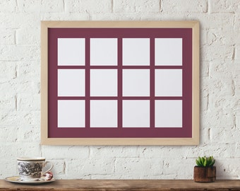 16x21 Matted Picture Frame 12 - 4x4 Picture Frame Instagram photos Family pictures Baby Pictures Gallery Wall Frame Large Window Frame