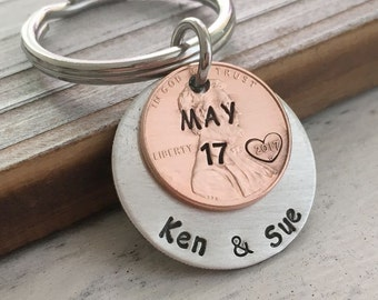 Anniversary gifts for boyfriend Keychain, couples keychain, couples date keychain couples date gift, dating gift for couples gift for couple