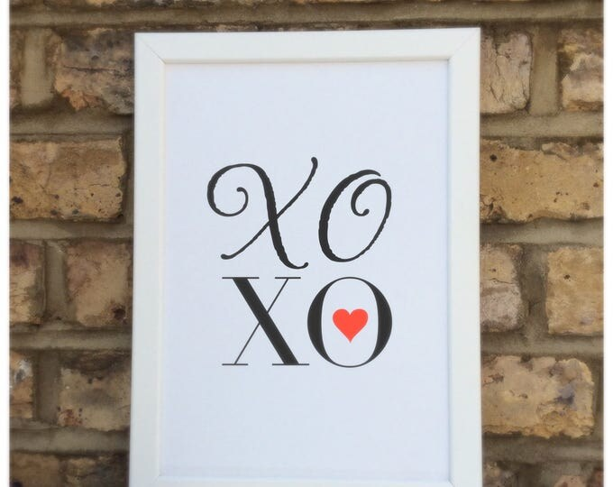 XOXO Print | Hugs & Kisses print | quote | Wall prints | Wall decor | Home decor | Print only | Typography