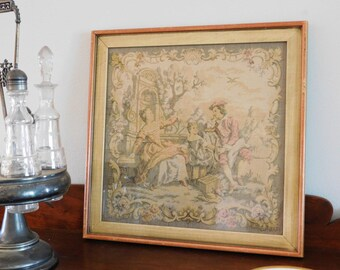 Rustic Framed French Tapestry
