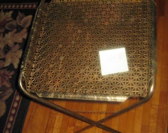 Vintage 1950's heavy metal TV Trays/Serving tray 1 LEFT