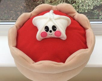 Kawaii fun cushion / Kawaii fleece round cushion / children's plushie / kids plushie / kids cushion / jam Tart decorative cushion