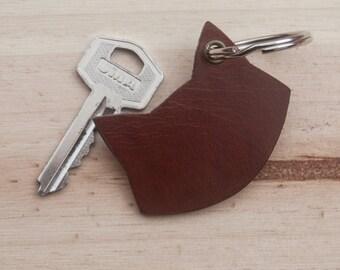 Cat Leather Keychain 2. Leather Key Chain. Leather key holder. Leather key fob. Leather Key ring.Animal Key chain. Keychain.