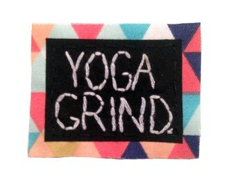 YOGA GRIND || Positive Vibes yoga shirt yoga gifts yoga apparel Jean Jacket Patch Iron-On Patches Custom Patches Iron On Patch Jakes Patches