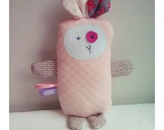 Decoration / Doudou sheep Rose Pastel