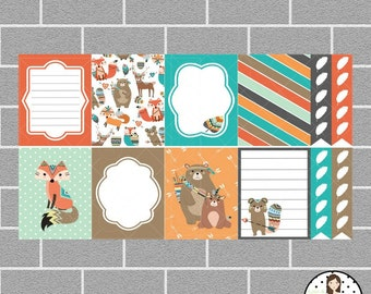 Tribal Friends | Full Box Planner Stickers